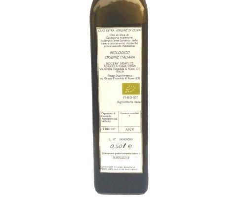 Olio biologico extra vergine
